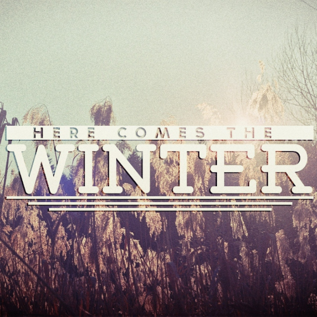 Here comes the winter