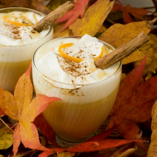 Fall is here: Lattes and leaves