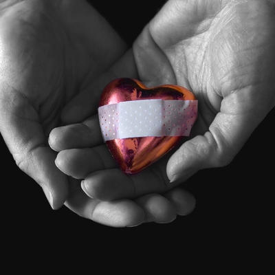 Band-aid for a broken heart.