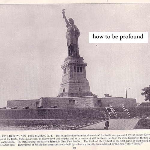 how to be profound