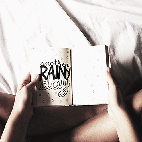 raindrops on the pages