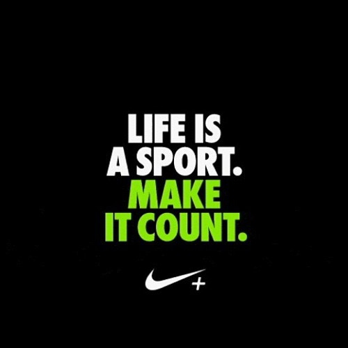 Just do it: Workout, sweat, dance & repeat. Make it count.