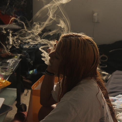 Smokin' weed with you.