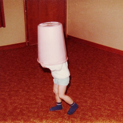 When Life Puts a Trash Can On Your Head...Keep on Moving!