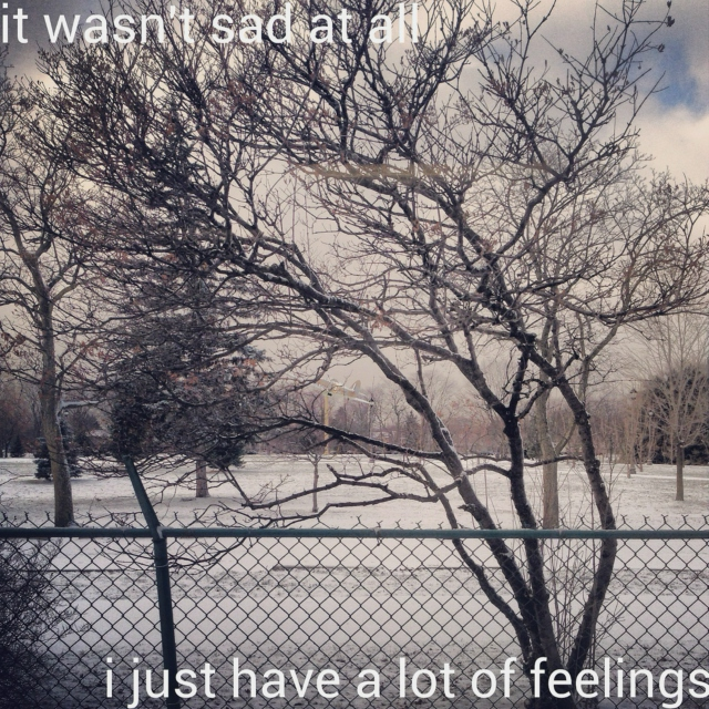 it wasn't sad at all i just have a lot of feelings