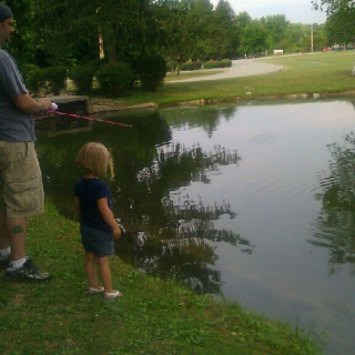 Fishing with Belle