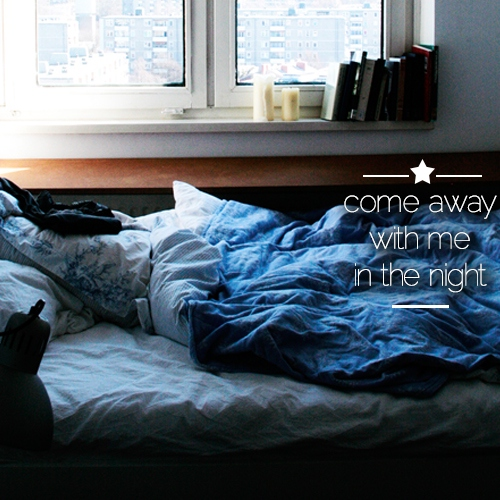 Come away with me in the night | Playlist do sono #4
