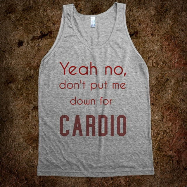 down for cardio