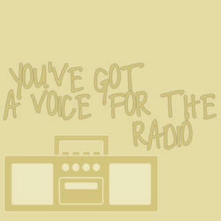 you've got a voice for the radio