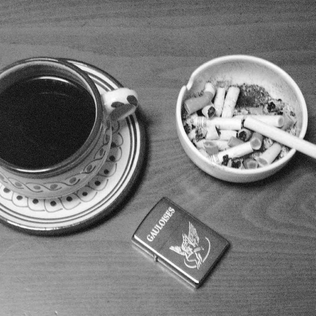 Late night coffee, early morning cigarettes
