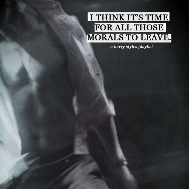 I think it's time for all those morals to leave.
