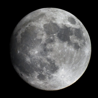 We look at the moon together a million miles apart