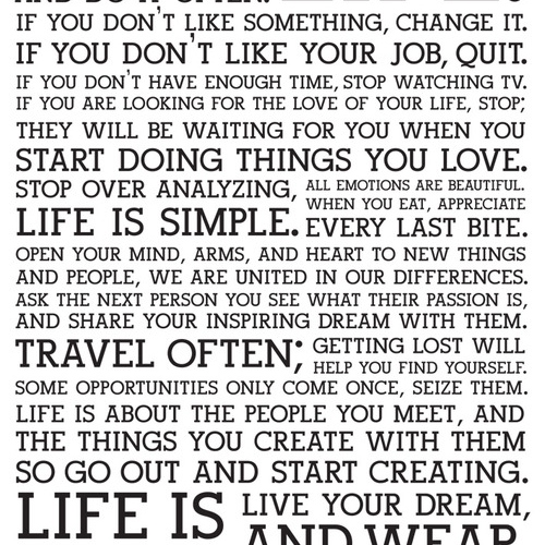 Life is simple...