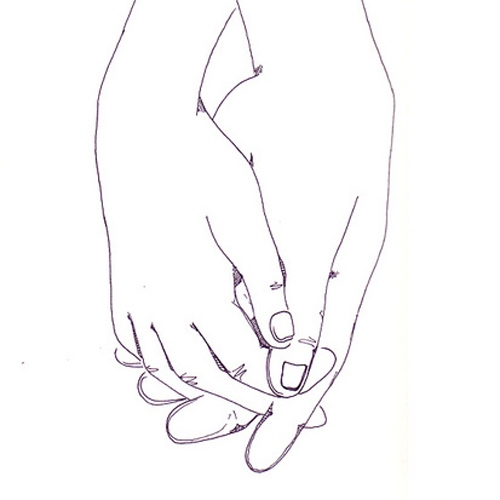 The spaces between your fingers