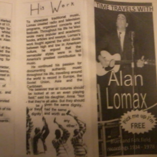 Time Travels with Alan Lomax