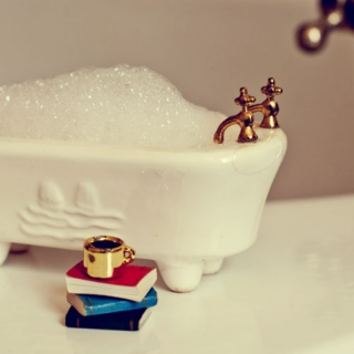the bathtub.