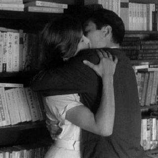 skipping class and kissing in the library