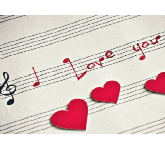Suddenly, all the love songs are about you.