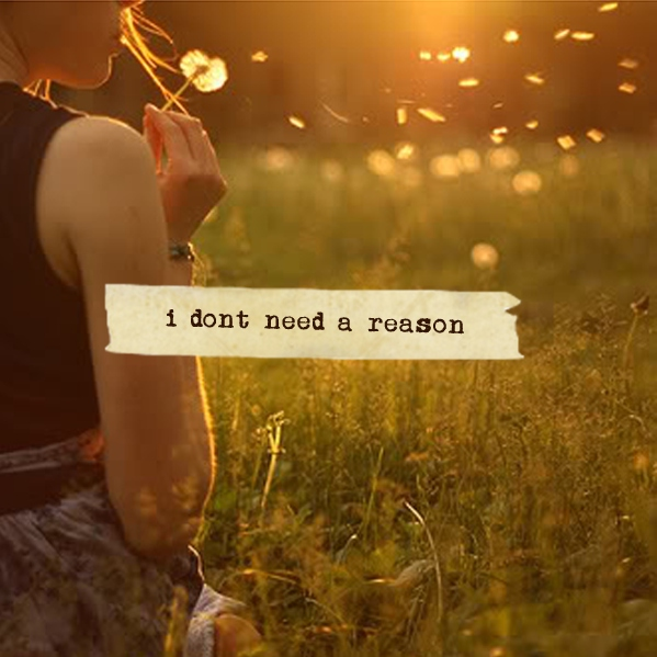 i don't need a reason