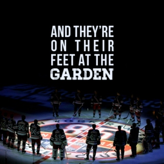 """and they're on their feet at the garden!"""