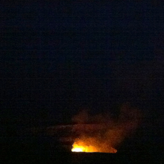 Volcanoes in the night after all this galore adore