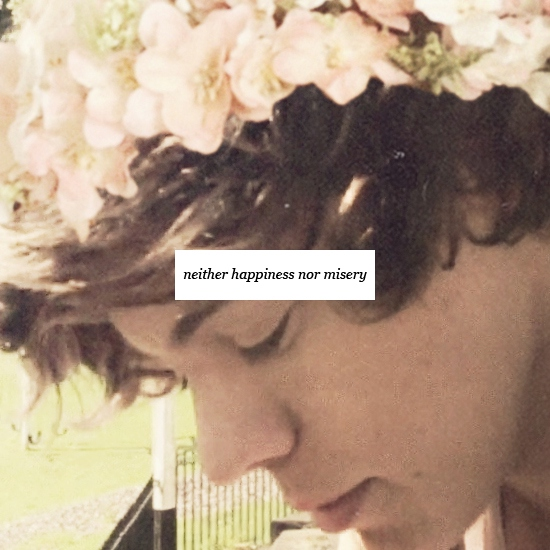 neither happiness nor misery