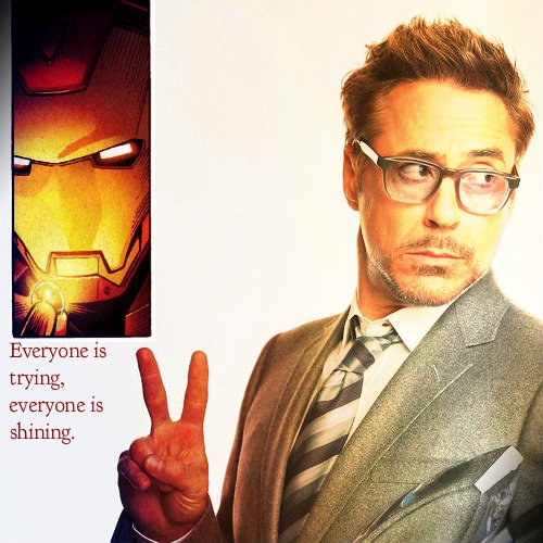 Everyone is trying, everyone is shining: A Tony Stark fanmix