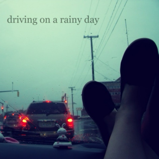 Driving on a rainy day