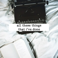 all these things that i've done