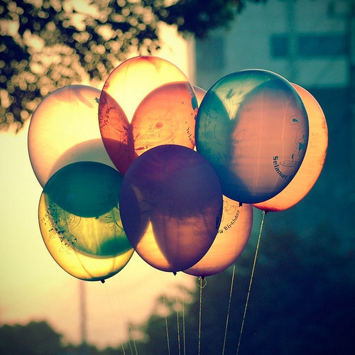 Balloons Swaying in the Breeze