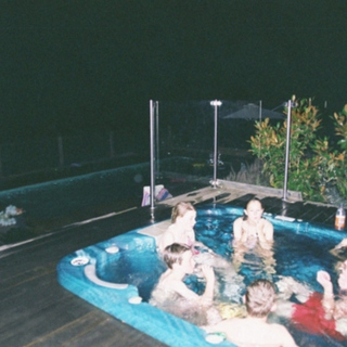 get in the hot tub now