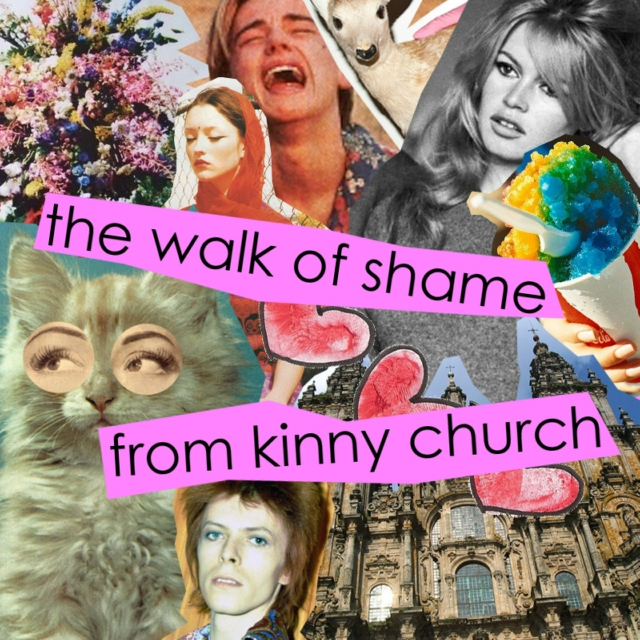 the walk of shame from kinny church