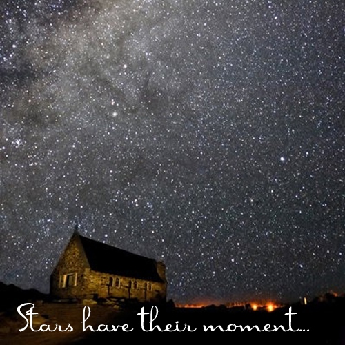 Stars have their moment...