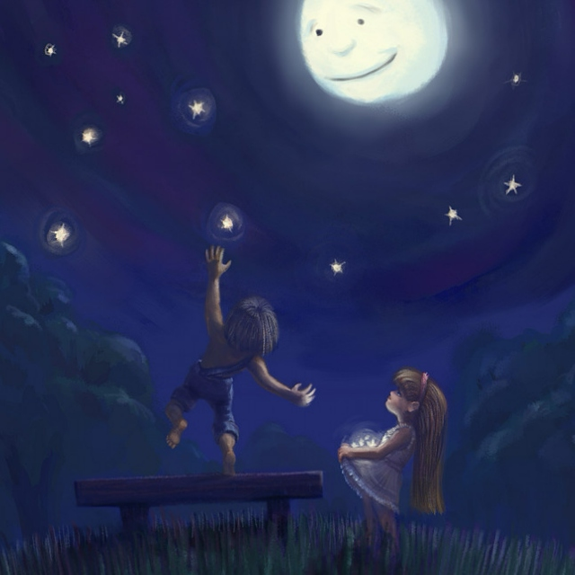 for the boy who hung the moon (or someday will)