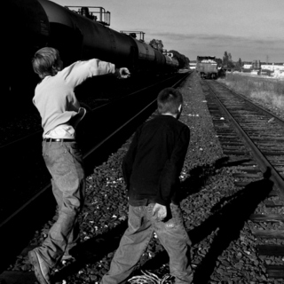 Throwing Rocks at Trains