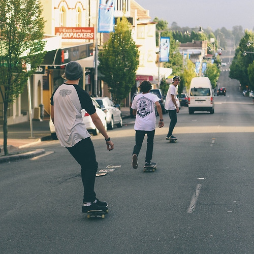 goons with me dressed like skaters