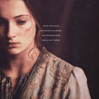 sansa stark; fragile as a dream