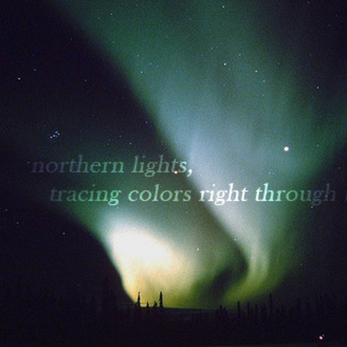 Northern lights, tracing colors right through the sky