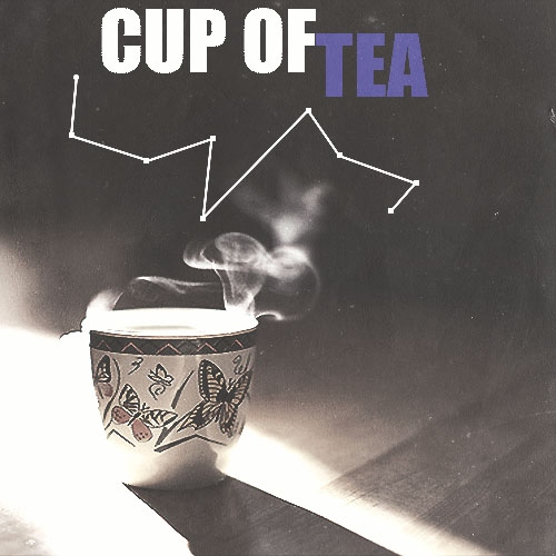 With a cup of tea.