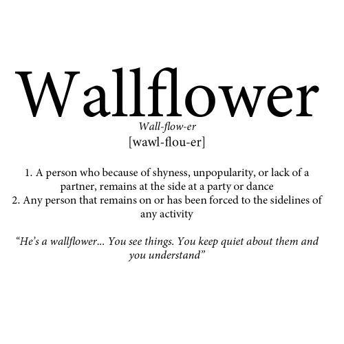 to the wallflowers