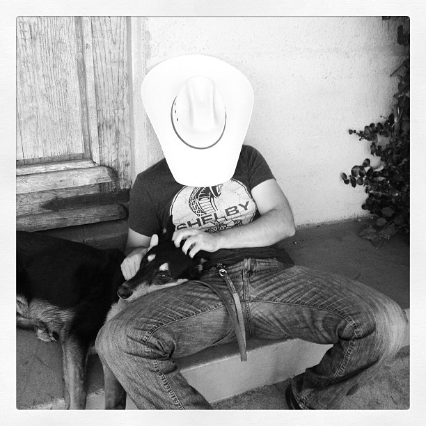A Sexy Cowboy is knocking.  Open the door.
