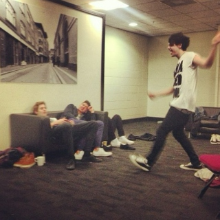 hanging out/jammin out with michael