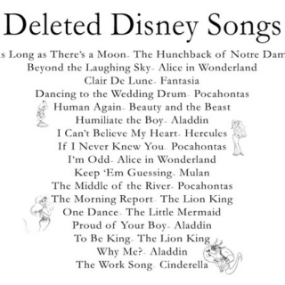 Deleted Disney Songs