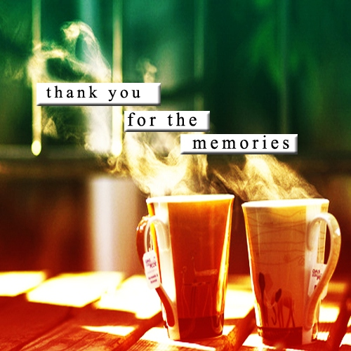 Thank you for the memories
