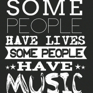 """Some people have lives; some people have music"" -- John Green books mix"