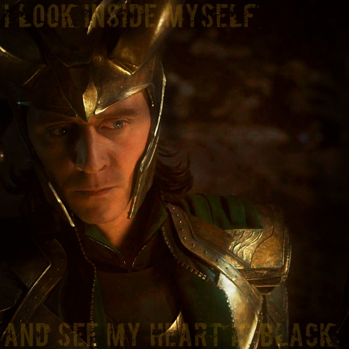 I look inside myself and see my heart is black: A Loki Laufeyson fanmix