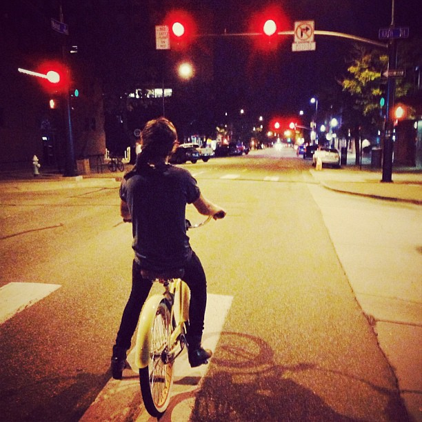 Late night bicycle ride with Harry