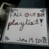 fall out boy concert playlist