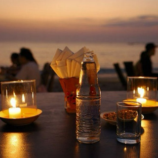 Sunset dinner at the beach