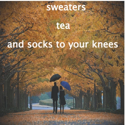 Sweaters, Tea, and Socks to your Knees
